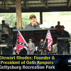Stewart Rhodes Unfurled The Confederate Flag In Gettysburg
