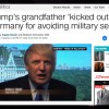 Trump's Grandfather Friedrich Trump Kicked Out Of Germany