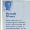 Obama Born in Kenya, Publish Proof 1991 Acton & Dystel