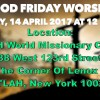 Holy Week Passover Line Up Schedule